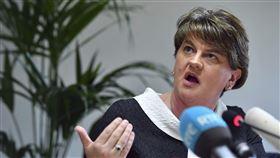 北愛爾蘭民主聯盟黨(DUP)黨魁佛斯特(Arlene Foster)(圖)說,民主聯盟黨不會支持「分裂英國內部市場」的脫歐協議。(圖/美聯社)