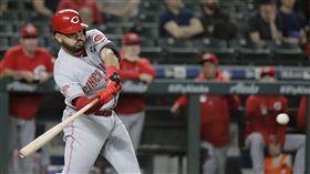 ▲紅人三壘手蘇瓦瑞茲(Eugenio Suarez)敲出本季第45號全壘打。(圖/美聯社)