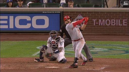 ▲紅人三壘手蘇瓦瑞茲(Eugenio Suarez)敲出本季第45號全壘打。(圖/翻攝自MLB官網)