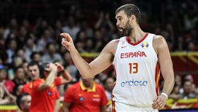 ▲賈索(Marc Gasol)33分6籃板4助攻,率西班牙殺進冠軍賽。(圖/達志影像)