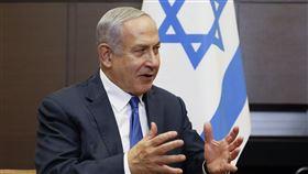 以色列總理內尼坦雅胡在2019年9月12日星期四與俄羅斯總統弗拉基米爾·普京在俄羅斯索契會晤時發表講話。(圖/美聯社)