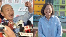 高雄市長韓國瑜、總統蔡英文(組合圖/資料照、翻攝自蔡英文臉書)
