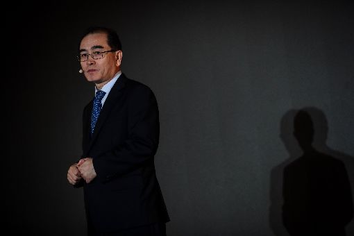 脫北外交官太永浩訪台分享心路歷程出身北韓菁英階層的前北韓外交官太永浩(Thae Yong-ho)於西元2016年8月擔任北韓駐英公使期間叛逃。他日前首度訪台,並參加二度在台北舉行的奧斯陸自由論壇,分享他決定脫北、到南韓生活的原因。中央社記者吳家昇攝 108年9月14日