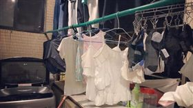 老婆,老公,曬衣服,做家事,雙子座(翻攝自爆怨公社)