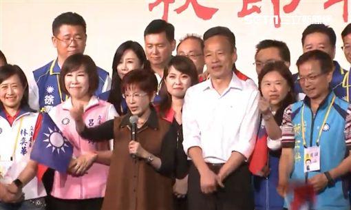 洪秀柱、韓國瑜出席台商中秋聯誼餐會。記者李依璇攝影