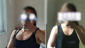 真人版比司吉!健身妹練到「胸部縮水」變胸肌大崩潰(圖/翻攝自Dcard) https://www.dcard.tw/f/fitness/p/232067102