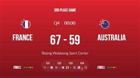 ▲法國擊敗澳洲拿第3名。(圖/取自FIBA官網)