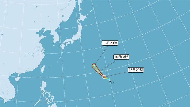 第16號颱風「琵琶」生成!氣象局模擬路徑曝光