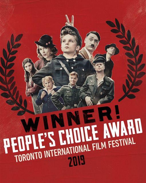 《兔嘲男孩》(JoJo Rabbit)獲得多倫多影展最大獎「觀眾票選獎」 臉書