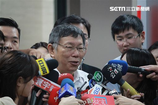 柯文哲916聯訪 記者李依璇攝影