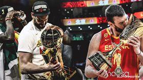 世界盃/同年雙冠軍!小賈索創歷史 FIBA世界盃,西班牙國家隊,Marc Gasol,NBA,多倫多暴龍,總冠軍 翻攝自推特ClutchPoints