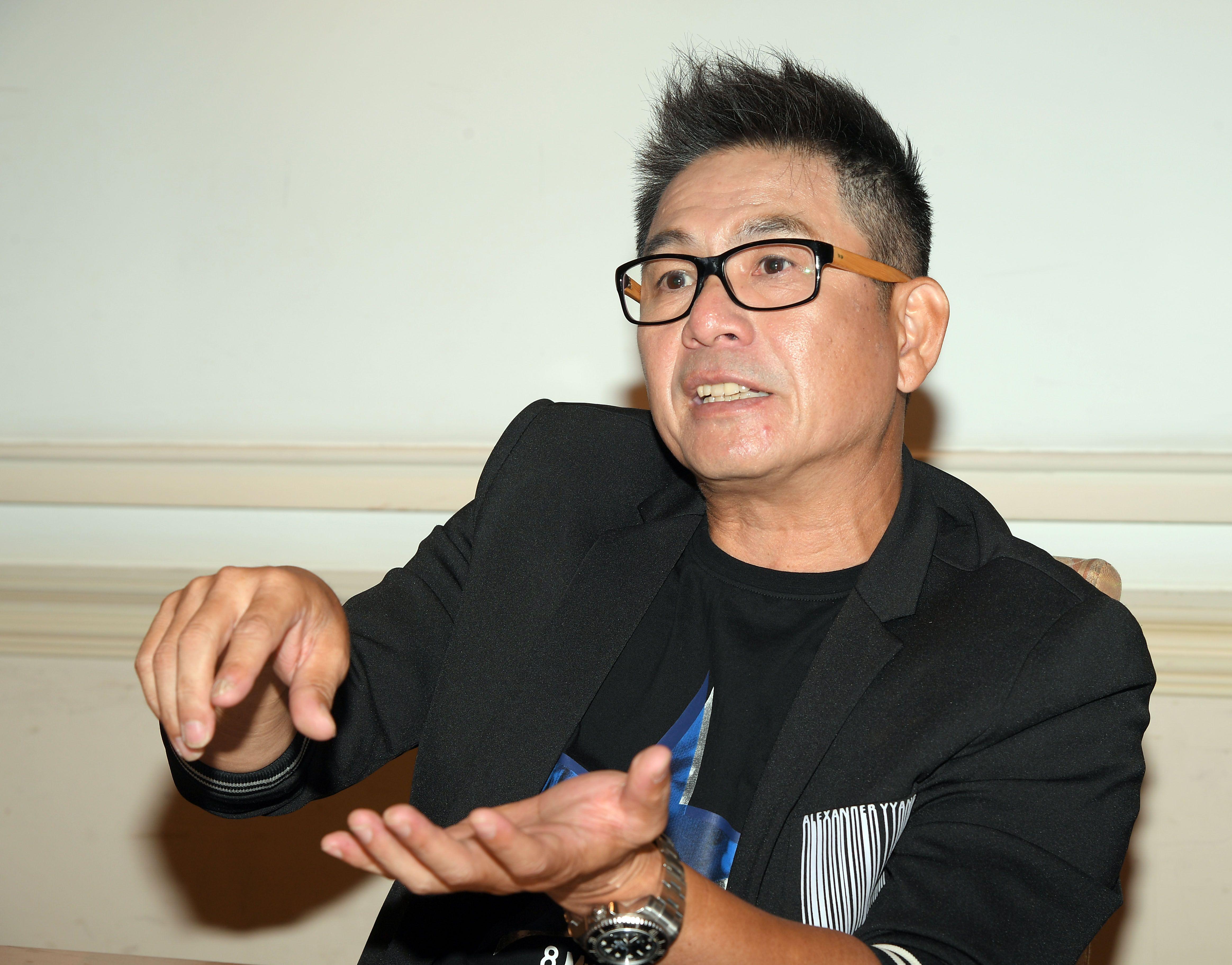 藝人洪都拉斯金鐘專訪。(記者邱榮吉/攝影)