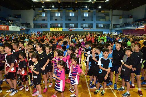 ▲全民會長盃國際羽球賽開幕。(圖/大會提供)