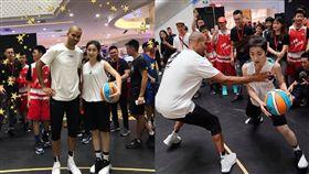 NBA/帕克竟「襲胸」中國正妹球員 NBA,Tony Parker,襲胸,正妹 翻攝自微博
