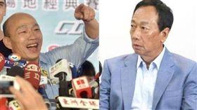 高雄市長韓國瑜、鴻海創辦人郭台銘(組合圖/資料照)