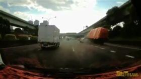 國道,國道1號,車禍,大貨車,轎車,擦撞,
