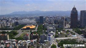 台北市房市俯瞰景色