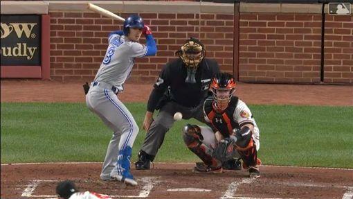 ▲畢吉歐(Cavan Biggio)擊出大聯盟生涯首次『完全打擊』!(圖/翻攝自MLB官網)
