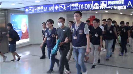 台泰警方合作破獲詐騙機房,一舉逮獲賴男在內等13人(翻攝畫面)