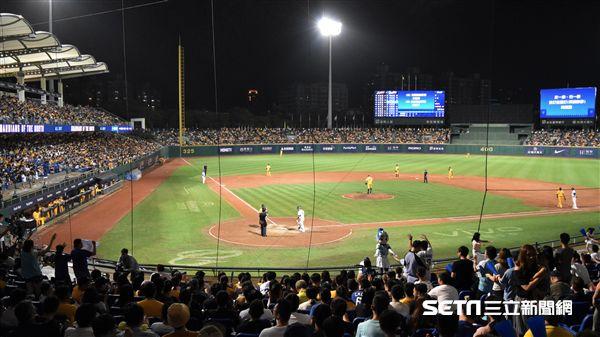 新莊棒球場滿場觀眾。(圖/記者王怡翔攝影)