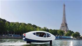 巴黎,飛行,電動計程車,測試,明年上市(圖/facebook.com/seabubblesofficial)