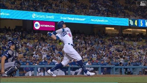 ▲貝林傑(Cody Bellinger)相隔12場敲出本季45轟。(圖/翻攝自MLB官網)