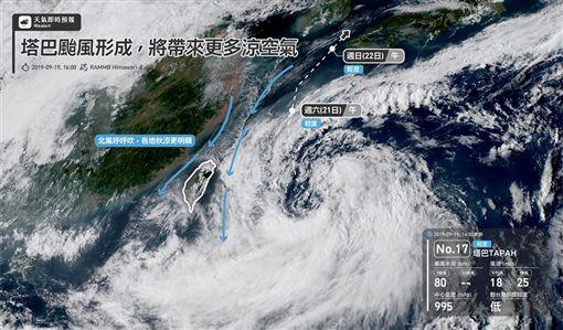 氣象局,天氣,颱風,天氣即時預報,塔巴颱風,塔巴
