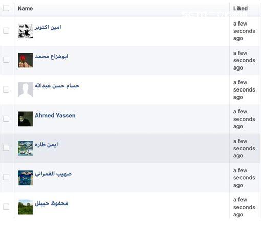 柯文哲粉絲專頁擁入阿拉伯人按讚 翻攝自柯昱安臉書