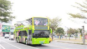 台南,雙層巴士,運量不佳,調整營運,異業結盟(圖/台南市政府提供)中央社