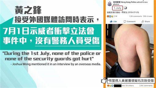 港警,臉書,背部照,香港網友,反送中(圖取自facebook.com/HongKongPoliceForce)