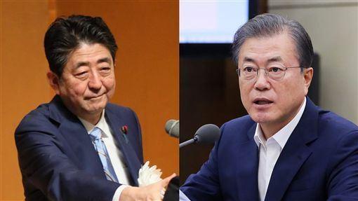 南韓,日本,經濟報復,拖累,限制(圖/首相官邸、文在寅臉書)