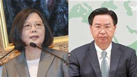 總統蔡英文、外交部長吳釗燮(組合圖/資料照)