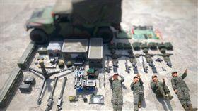 海軍陸戰隊,開箱,模型,tetris challenge,國軍,防空部隊,刺針飛彈,裝備,蛙人 圖/翻攝自中華民國海軍陸戰隊臉書 https://parg.co/Jz9