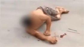 中國大陸,浙江,清潔工夫婦阻止2女隨地小便遭痛毆(圖/翻攝自梨視頻)