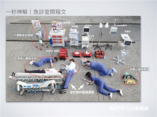 大林慈濟醫院急診室也跟風真人「開箱文」,搶救生命的秘密武器全曝光。(圖/大林慈濟醫院提供)