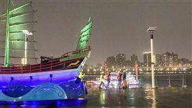 台北,大稻埕碼頭,落水,溺水,遊艇趴(圖/翻攝畫面)
