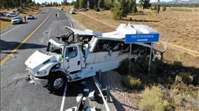 (16:9)猶他州,車禍,旅客,美國,中文(圖/翻攝自Utah Highway Patrol Twitter)