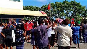 16:9 不想跟台灣斷交!索羅門人上街和平抗議 揮舞台灣國旗(圖/翻攝自臉書I am from Honiara, Solomon Islands)