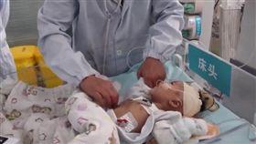 2月大女嬰心臟病!4歲腦死童捐心…網鼻酸:替哥哥活下去(圖/翻攝自央視新聞頻道)