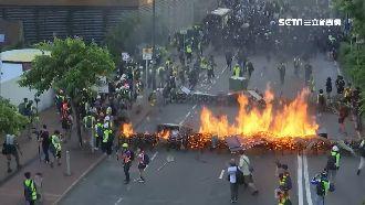 香港騷亂再起!示威者沙田、太子縱火