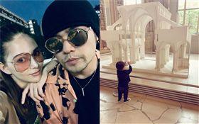 昆凌22日在IG發文:「哥的文青一日遊。」曬出帶著2歲兒子Romeo到巴黎博物館的萌照。翻攝自IG