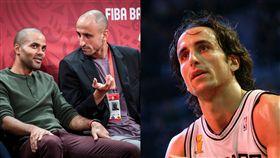 NBA/鬼禿長頭髮!老戰友帕克嚇歪 NBA,聖安東尼奧馬刺,Manu Ginobili,Tony Parker 翻攝自推特
