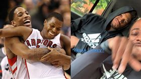 NBA/羅利迪羅森「兄弟聚首」樂歪 NBA,多倫多暴龍,Kyle Lowry,DeMar DeRozan 翻攝自推特