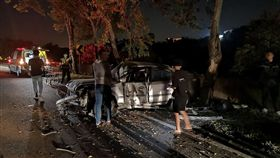 彰化,139縣道,車禍,自撞,拋飛車外,摔落邊坡(圖/翻攝畫面)