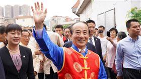 王金平前往中國漳州白礁村王氏家廟祭祖 圖/王金平辦公室提供