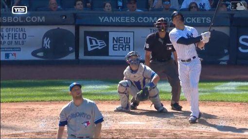 ▲史坦頓(Giancarlo Stanton)歸隊後敲出的3支安打都是長打。(圖/翻攝自MLB官網)