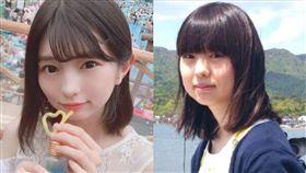 本女團「NECOPLA」成員Yurina(ゆりな)/減肥前後。翻攝自推特