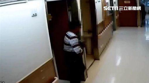 台北市翁姓竊賊潛入各大醫療院所,並趁四下無人之際竊取財物(翻攝畫面)