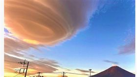 塔巴,颱風,雲,富士山。(圖/翻攝WNI)