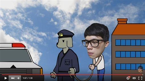 警察制服,How How,網紅,youtuber,懲處,PTT 圖/翻攝自PTT